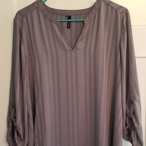 Maurice's Gray long sleeve blouse XL